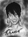 Rihanna sketched drawing