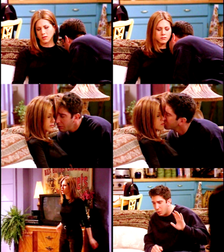 Rachel Green वॉलपेपर possibly with a चोली, ब्रासेरी entitled Ross and Rachel ♥