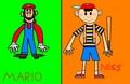 SSBM: Mario and Ness