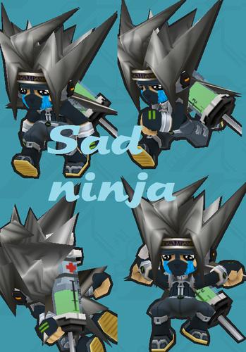 Sad ninja-kun/kun