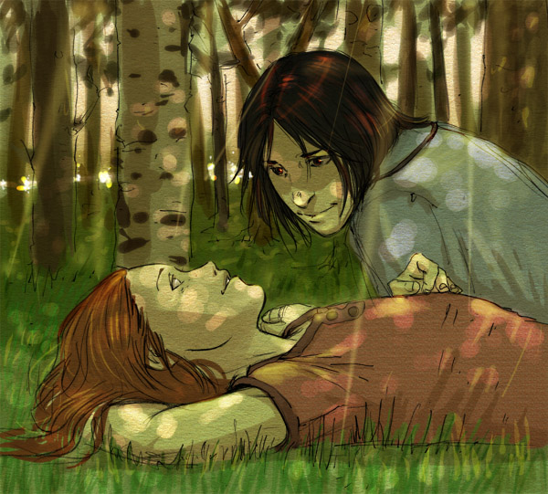 Un voeu, une image. Snape-and-Lily-Forever-severus-snape-and-lily-evans-23865655-600-541