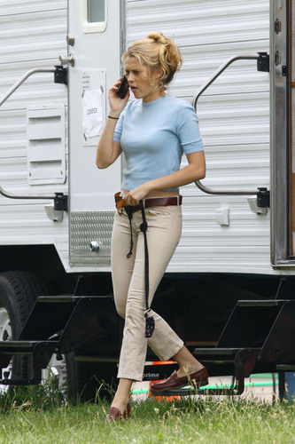 Teresa Palmer spotted on the Set of A.W.O.L in Michigan, Jul 19