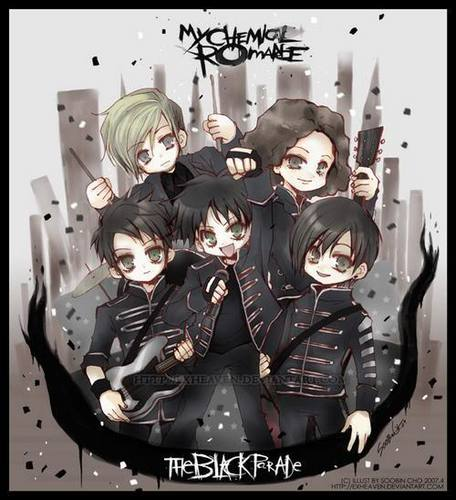My Chemical Romance wallpaper possibly containing an internal combustion engine called The Black Parade..IS...CHIBI!