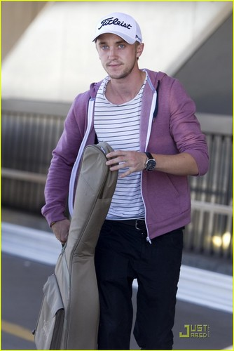 Tom Felton: Airport Arrival