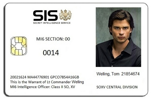 Tom Welling MI6 ID Card