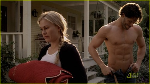 Sookie and Alcide 바탕화면 entitled True Blood 4x04 - Sookie and Alcide