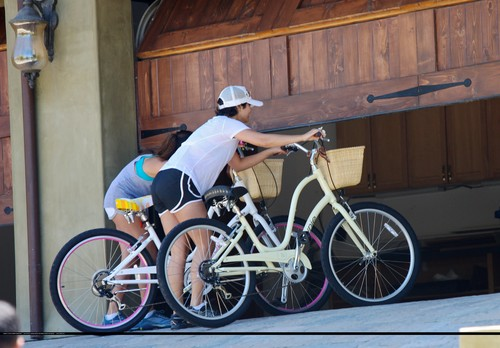 Vanessa - Out bike riding with sister Stella in Studio City - July 19, 2011