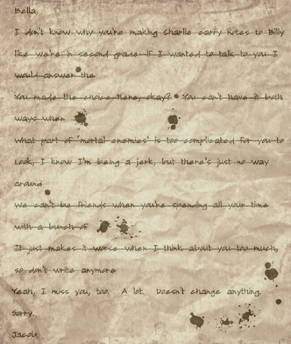 jacob's letter in eclipse