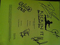 kickin' ot script signed by the kickin' it cast