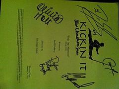 kickin' ot script signed Von the kickin' it cast