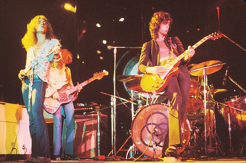 Led Zeppelin wallpaper probably with a concert and a guitarist titled led zeppelin