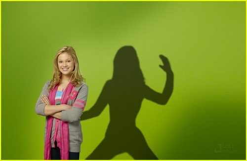 "olivia holt Hintergrund probably with a well dressed person and a portrait titled oliva as kim on kickin"" it"