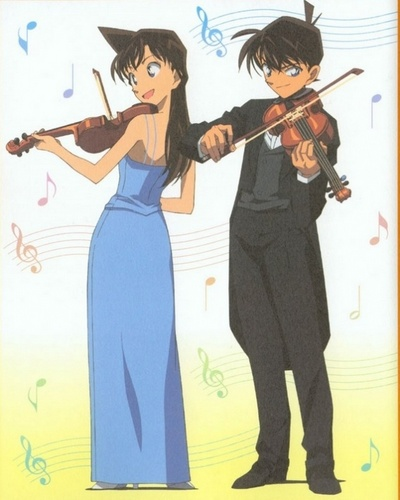 shinichi x ran wallpaper containing a violist called shinichi x ran