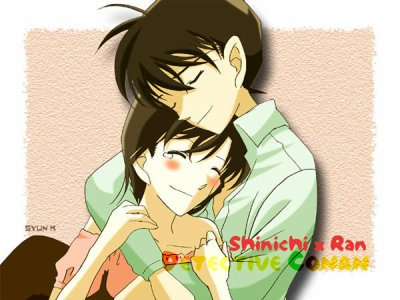 shinichi x ran wallpaper possibly containing anime titled shinichi x ran