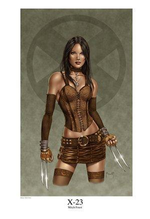 X-23 wallpaper possibly containing bare legs, hosiery, and a hip boot entitled x-23