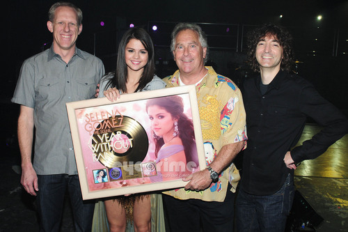 Selena Gomez Surprised with a Gold Album