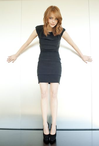 emma stone wallpaper containing tights, a leotard, and a playsuit, macacão entitled 2011 Comic Con Portraits