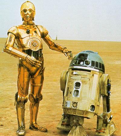 3Po and R2 on tatooine