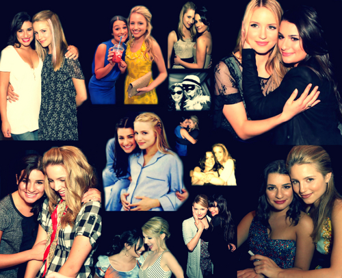 Lea Michele and Dianna Agron wallpaper possibly with a concert called Achele <3