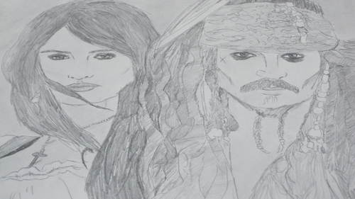 Angelica and Jack drawing