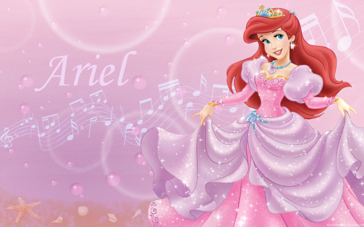 the little mermaid images ariel in pink wallpaper photos