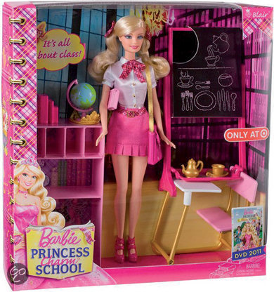 Barbie films achtergrond probably with tights called Barbie Princess Charm School - Classroom playset