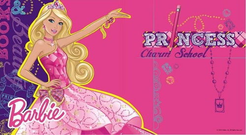 Sinema za Barbie karatasi la kupamba ukuta possibly containing anime called Barbie Princess Charm School