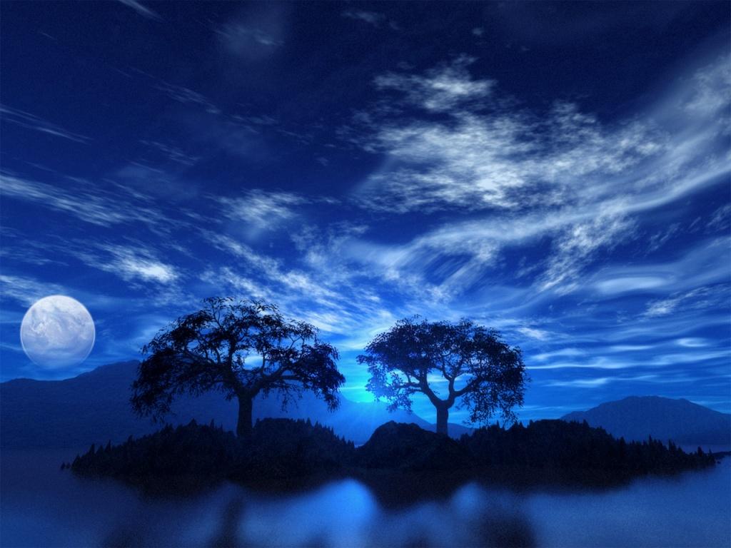 Beautiful Night Blue Sky
