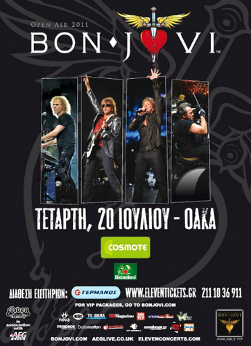 Bon Jovi Live in Athens - Poster