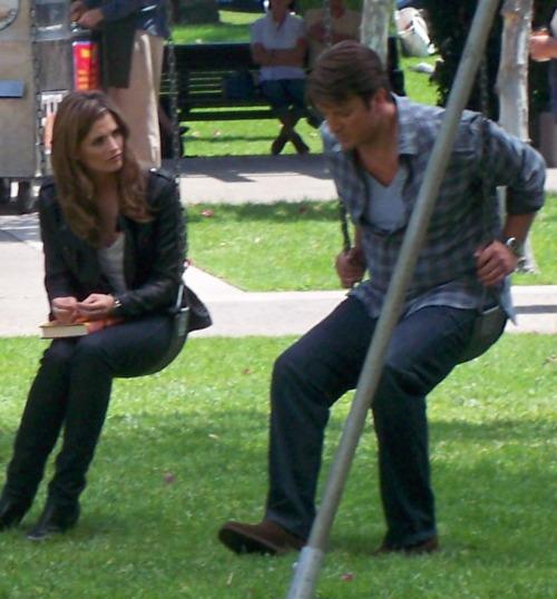 Castle Season 4 Set Photo - Castle & Beckett Photo (23968881) - Fanpop