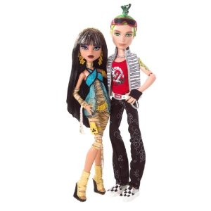 Cleo De Nile and Deuce Gorgon Monster High anak patung
