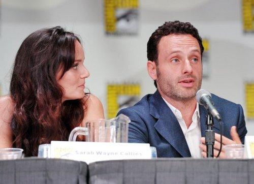 Comic-Con 2011 - Sarah Wayne Callies & Andrew Lincoln