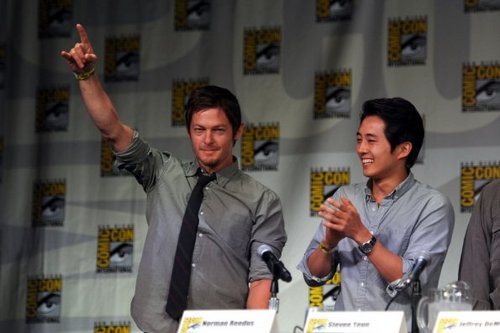 Comic-con 2011 - Norman Reedus and Steven Yeun