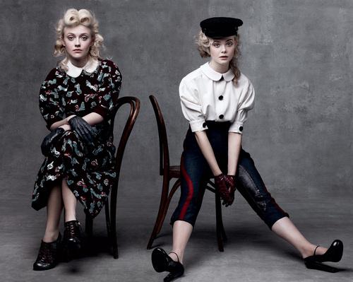 Dakota and Elle in Vogue
