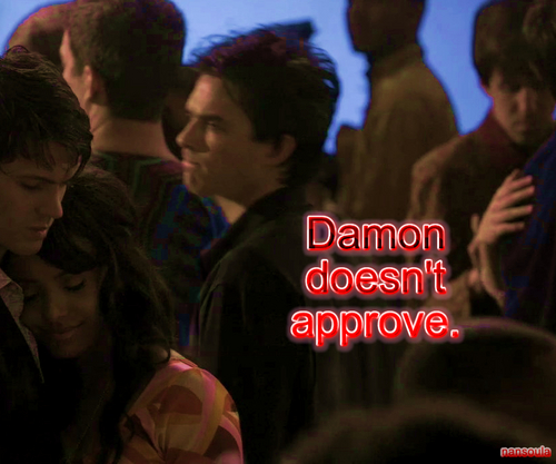 Damon doesn't approve.