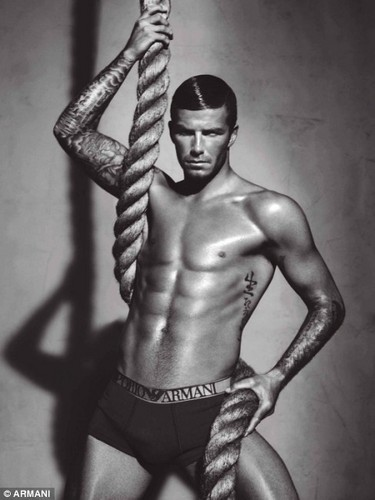 David Beckham and Victoria Armani ad