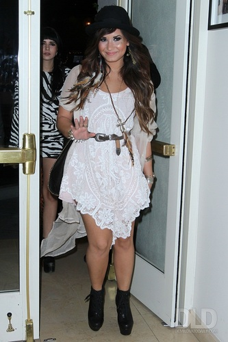 Demi - Arrives at the Sunset Tower in Los Angeles, CA - July 20, 2011