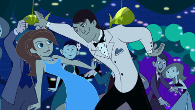 Kim Possible wallpaper containing anime called Eric & Kim dancing at the prom