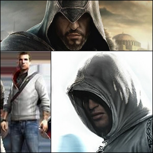Ezio, Desmond And Altair - assassins-creed Fan Art