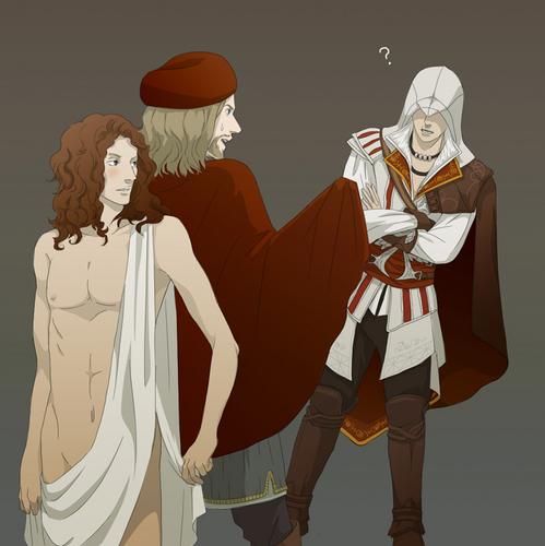 Ezio & Leonardo & Salai