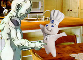 Frieza pokes the doughboy