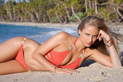 swimsuit si wallpaper with a bikini and a beachwear titled Genevieve Morton