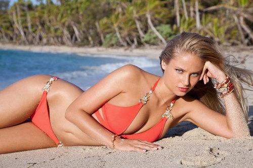 swimsuit si wallpaper with a bikini and a beachwear entitled Genevieve Morton