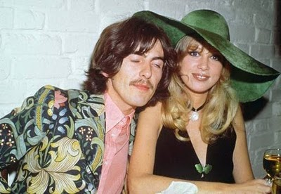 George Harrison wallpaper containing a boater and a fedora entitled George and Pattie