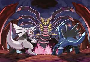 Giratina,Dialga,and Palkia