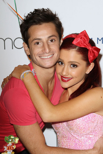 Grande peforms during Macy's Annual Summer blowout toon in New York, July 17