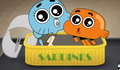 Gumball and Darwin out of a tuna can