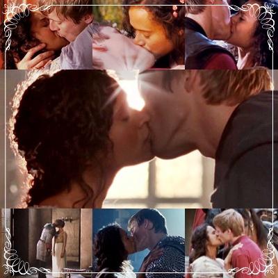 Gwen Arthur kisses
