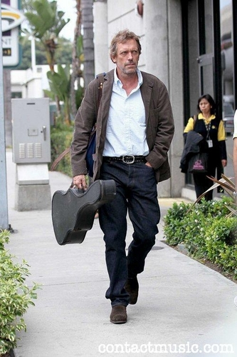 Hugh Laurie-arrives at LAX airport on a flight from London. Los Angeles, California - 20.07.11.