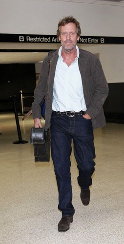 Hugh Laurie-arrives at LAX airport on a flight from London.Los Angeles20/07/2011